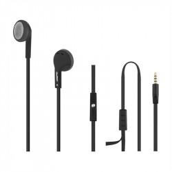 Słuchawki douszne z mikrofonem Qoltec 50805 czarno-srebrne
