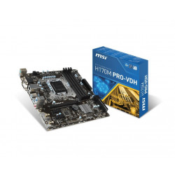 Płyta MSI H170M PRO-VDH /H170/DDR4/SATA3/SE/USB3.1/PCIe3.0/s.1151/mATX
