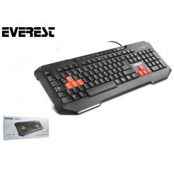 Klawiatura EVEREST KB-961 USB multimedialna dla graczy